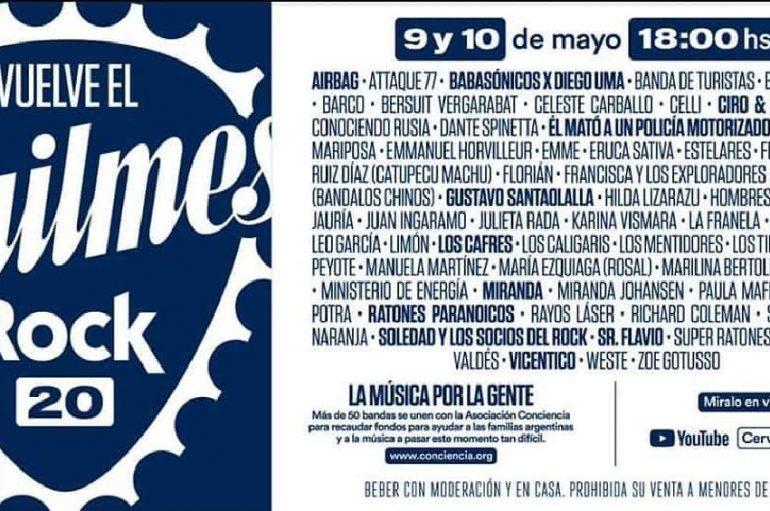 Vuelve 'Quilmes Rock' vía streaming