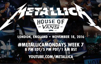 "#MetallicaMondays: Hoy, ""Live at House of Vans"", en Londres"